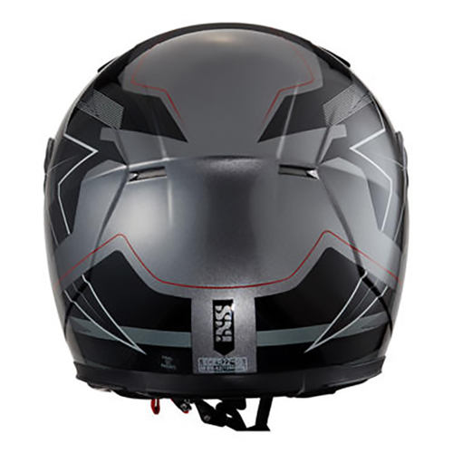 HELMET FULL FACE IXS KIDS HX135 2.0 BLACK/GREY/RED