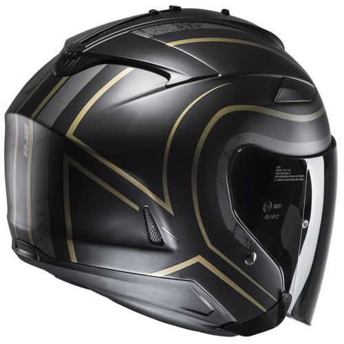 HELMET JET HJC IS-33 II APUS MC-9SF BLACK/GOLD