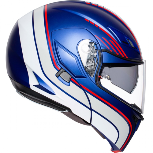 HELMET FLIP UP AGV COMPACT ST MULTI BOSTON MATT BLUE/WHITE/RED