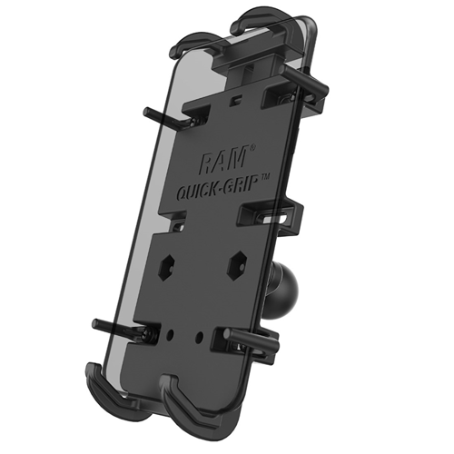 MOBILE BASE RAM MOUNT QUICK-GRIP XL | GPS/PHONE HOLDER WITH BALL BLACK