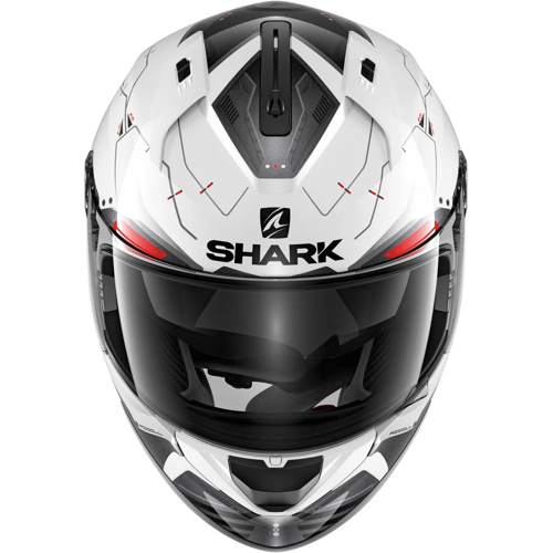 HELMET FULL FACE SHARK RIDILL MECCA WHITE/BLACK/RED