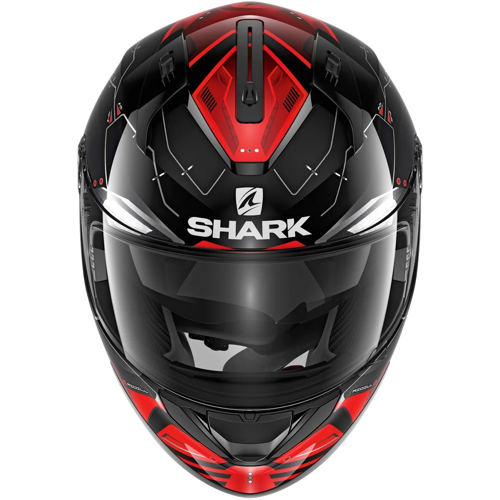 HELMET FULL FACE SHARK RIDILL MECCA BLACK/RED/SILVER