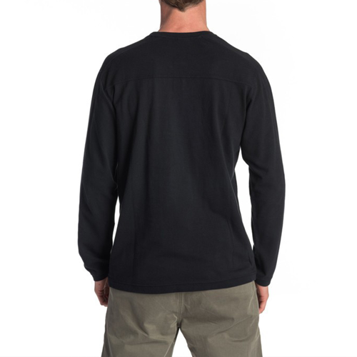 TEE LS RIPCURL COVERED UP BLACK