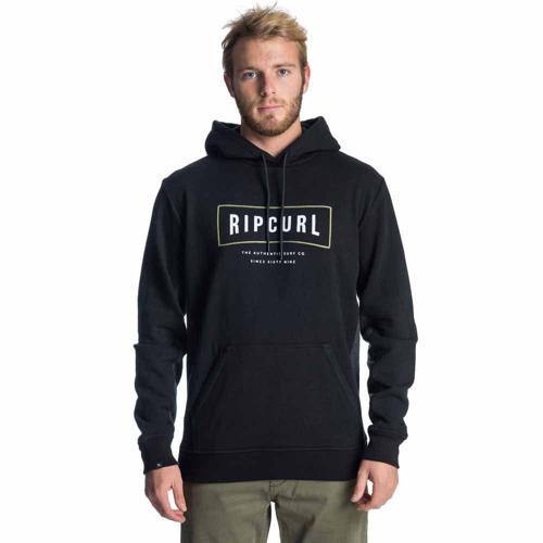 HOODY RIPCURL STRECHED OUT FLEECE BLACK