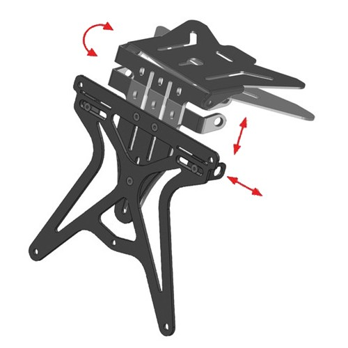 LICENCE PLATE MOTO DISCOVERY AERO BLACK