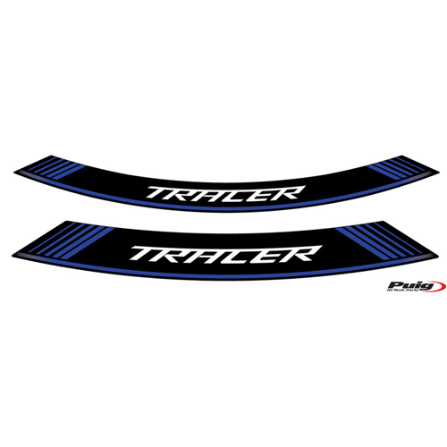 RIM STICKERS PUIG TRACER 900/GT 18- BLACK/BLUE