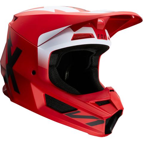 HELMET MX FOX RACING V1 20 WERD FLAME RED