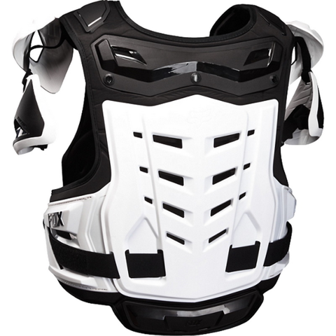 GUARD CHEST MX FOX RACING RAPTOR VEST CE BLACK/WHITE