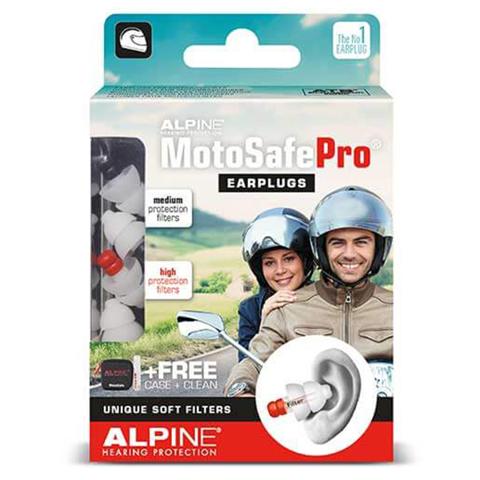 EAR PLUGS ALPINE EAR PLUGS MOTOSAFE® PRO BLACK