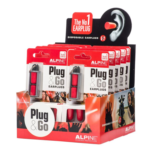 EAR PLUGS ALPINE EAR PLUGS PLUG&GO RED