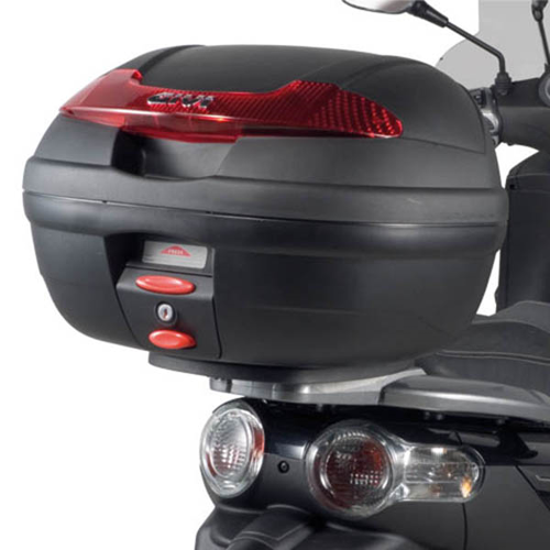 TOPCASE GIVI E340N BLACK/RED REFLECT