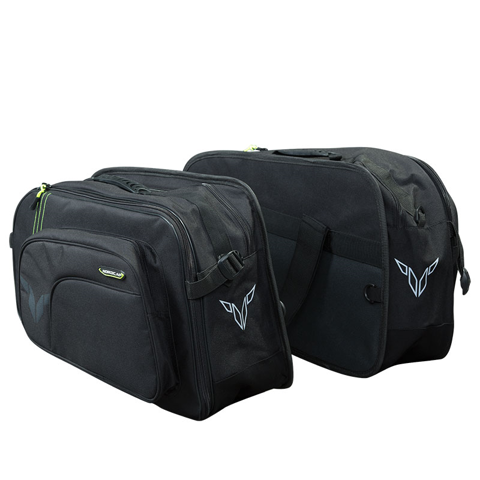 SIDE SOFT BAGS NORDCODE CARGO II | 40L BLACK/FLUO-YELLOW