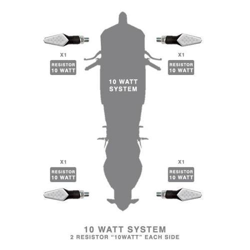 FLASH LED RESISTOR BARRACUDA 10W LED SYSTEMS BLACK