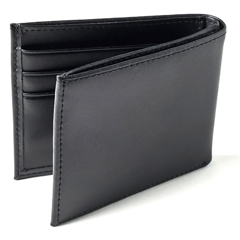F0X BIFOLD LEATHER WALLET BLACK