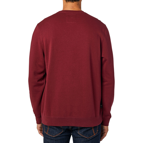 FOX REFRACT CRW FLEECE CRANBERRY