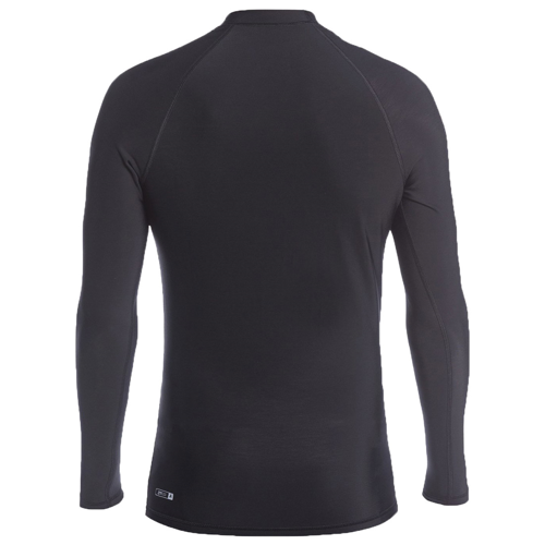 QUIKSILVER HEATER BLACK THERMAL TEE LS UPF 50