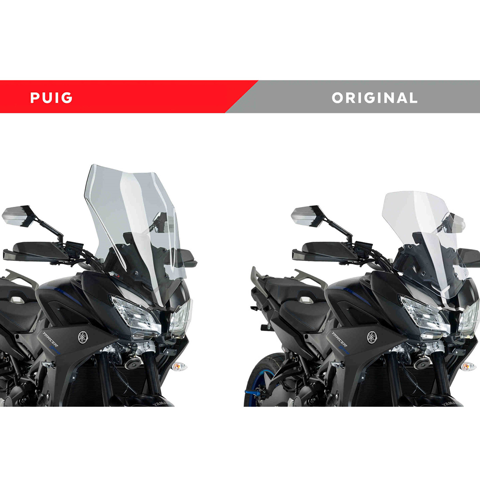 PUIG TOURING LIGHT SMOKE WINDSCREEN FOR YAMAHA TRACER 900/GT 2018