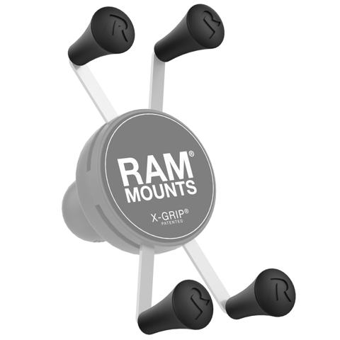 RAM MOUNT RAP-UN-CAP-4U X-GRIP® RUBBER CAP 4-PACK