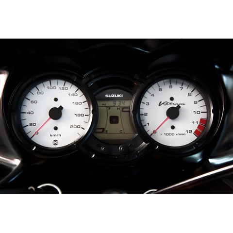 MOTO DETAIL 00525A WHITE INSTRUMENTS BACKGROUND FOR SUZUKI V-STROM DL-650