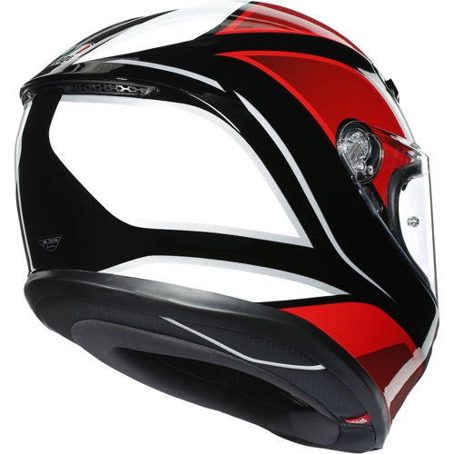 AGV K6 HYPHEN BLACK/RED/WHITE HELMET FULL FACE