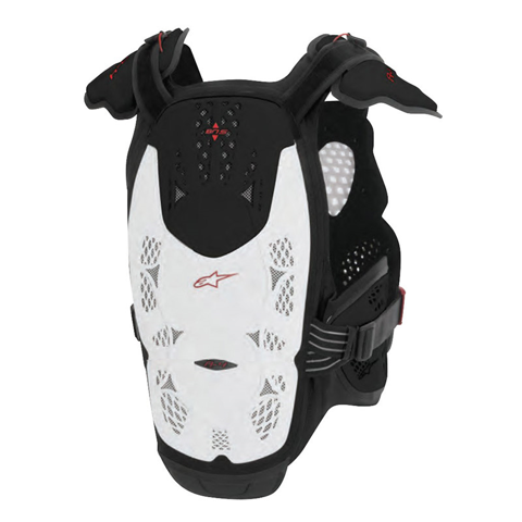 ALPINESTARS A-4 WHITE/BLACK/RED GUARD CHEST MX