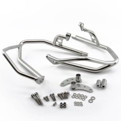 TOURATECH 01-051-0560-0 SILVER ENGINE GUARDS FOR BMW R1200GS -12