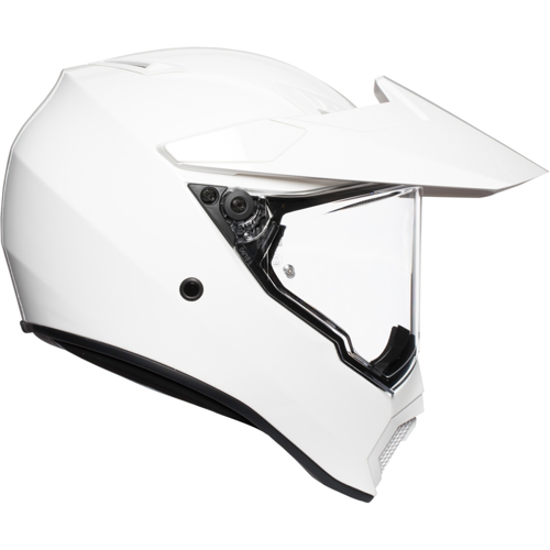 AGV AX9 MONO WHITE HELMET ON-OFF