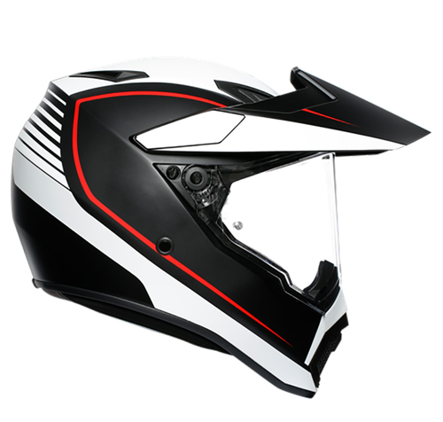 AGV AX9 MULTI PACIFIC ROAD MATT BLACK/WHITE/RED HELMET ON-OFF