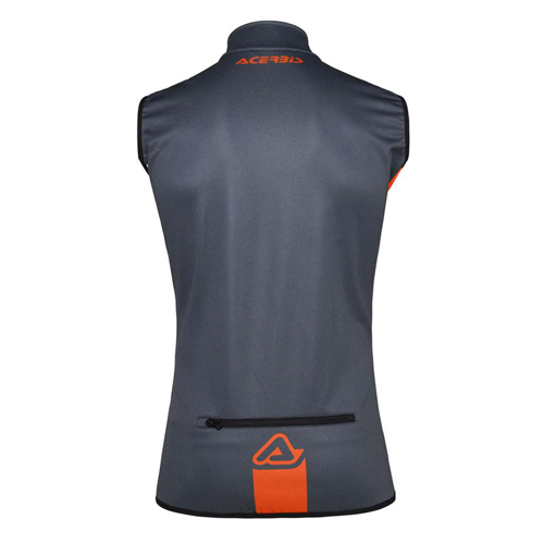 ACERBIS X-WIND SOFTSHELL VEST GREY ORANGE GILET
