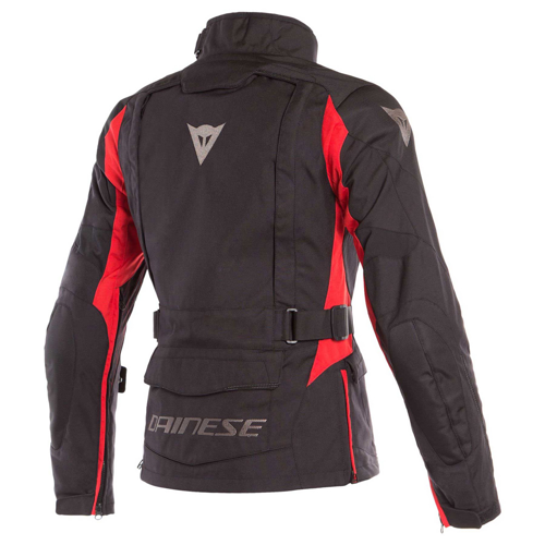 DAINESE X-TOURER D-DRY LADY BLACK/BLACK/TOUR RED JACKET WP 4-SEASON