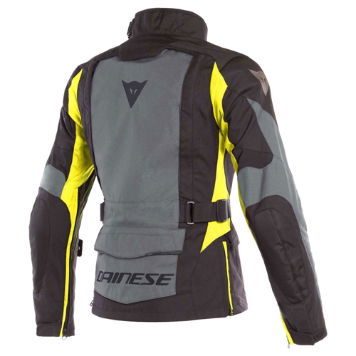 DAINESE X-TOURER D-DRY LADY EBONY/BLACK/FLUO-YELLOW JACKET WP 4-SEASON