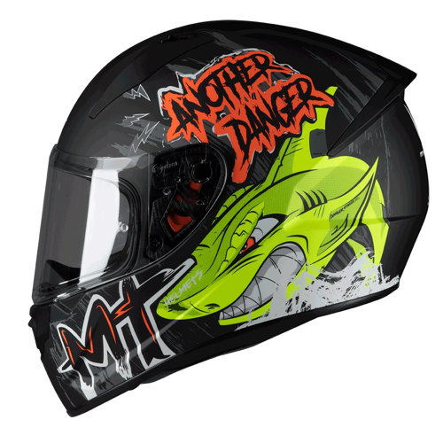 MT STINGER DANGER A1 MATT FLUO ORANGE HELMET FULL FACE