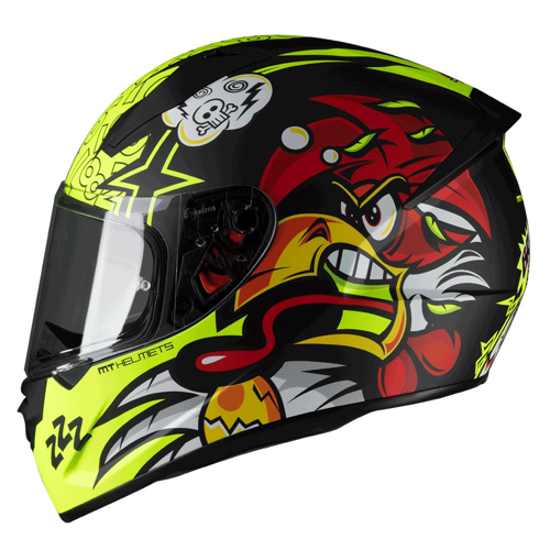 MT STINGER CHICKEN A1 MATT HELMET FULL FACE