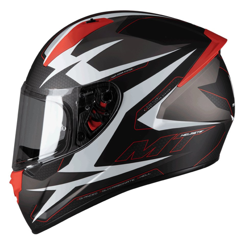 MT STINGER POWERED B5 MATT RED HELMET FULL FACE