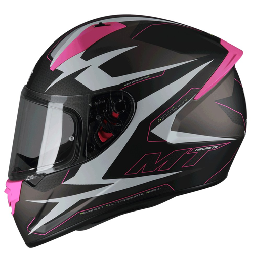 MT STINGER POWERED B8 MATT PINK HELMET FULL FACE