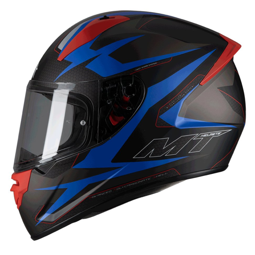 MT STINGER POWERED D7 MATT BLUE HELMET FULL FACE