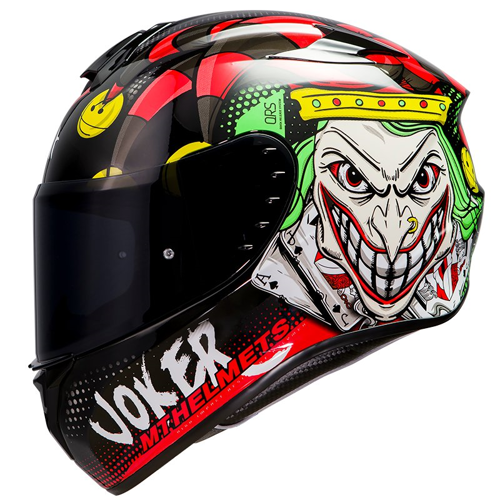 MT TARGO JOKER A1 GLOSS BLACK HELMET FULL FACE