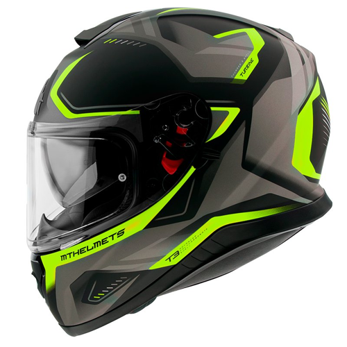 MT THUNDER 3 SV TURBINE C3 MATT FLUO YELLOW HELMET FULL FACE