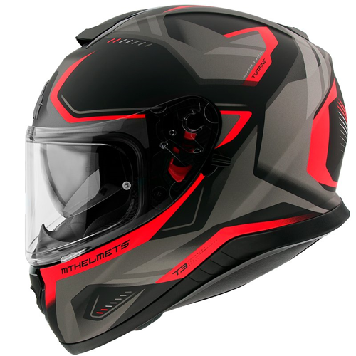 MT THUNDER 3 SV TURBINE C5 MATT RED HELMET FULL FACE