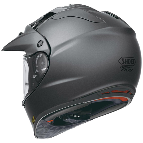 SHOEI HORNET ADVENTURE MATT DEEP GREY HELMET ON-OFF