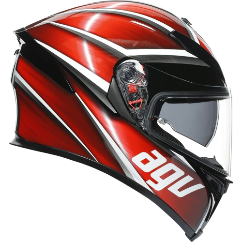 AGV K-5 S MAX TEMPEST BLACK/RED HELMET FULL FACE
