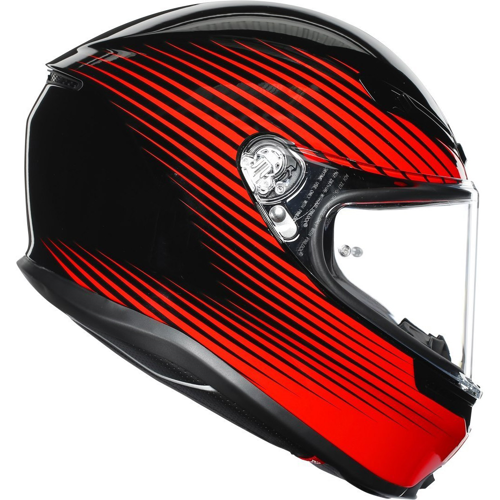 AGV K6 RUSH BLACK/RED HELMET FULL FACE