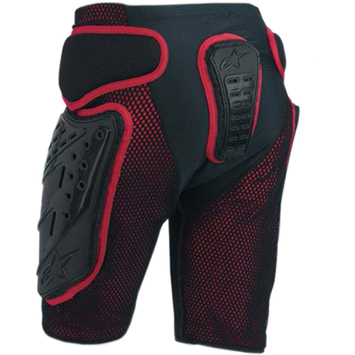 ALPINESTARS BIONIC FREERIDE SAFETY SHORTS BLACK/RED