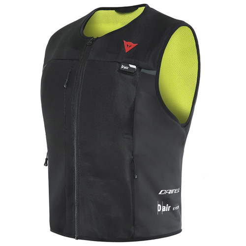DAINESE SMART JACKET BLACK/FLUO-YELLOW D-AIR PROTECTOR