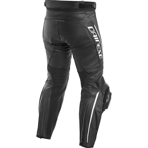DAINESE DELTA 3 SHORT/TALL BLACK/BLACK/WHITE PANTS LEATHER