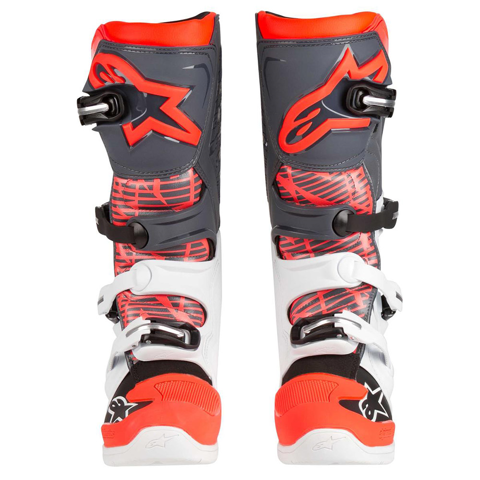 ALPINESTARS TECH 5 WHITE/GREY/RED BOOTS MX