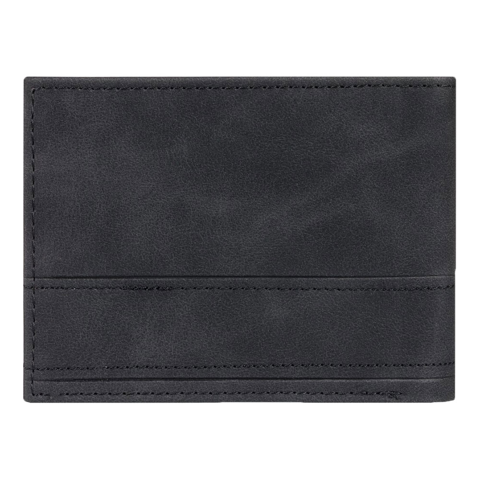 QUIKSILVER NEW STICHY TRI-FOLD BLACK WALLET