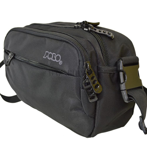 POLO CAMERA BLACK WAIST BAG