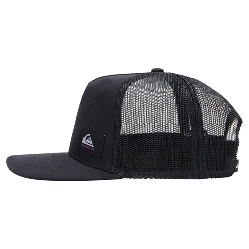 QUIKSILVER TECK BECKY BLACK TRUCKER CAP HAT