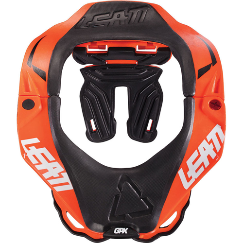 LEATT BRACE GPX 5.5 ORANGE/WHITE NECK BRACE L/XL